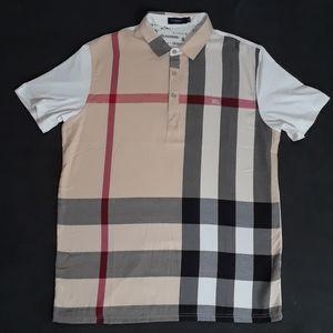 Burberry Mens Plaid Short Sleeve Shirt Size Large